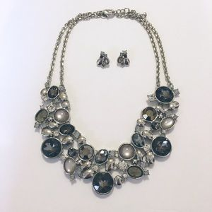 WHBM Matching Statement Necklace and Earrings